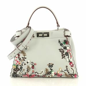 Fendi peekaboo Embroidered Satchel Bag